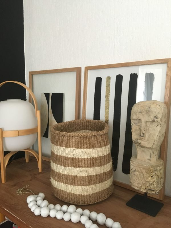 sisal basket #6 from Kenya with the India ink #2 and the stand up man totem